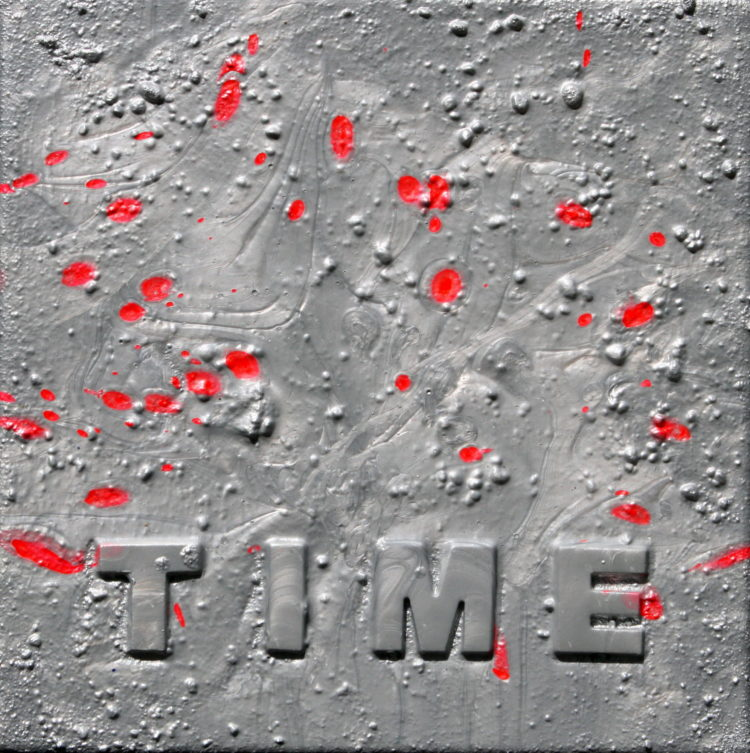 """TIME 2"" 30 cm x 30 cm Acrylic"