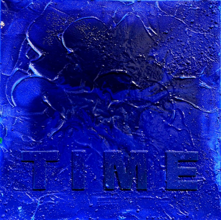 """TIME 5"" 50 cm x 50 cm Acrylic"