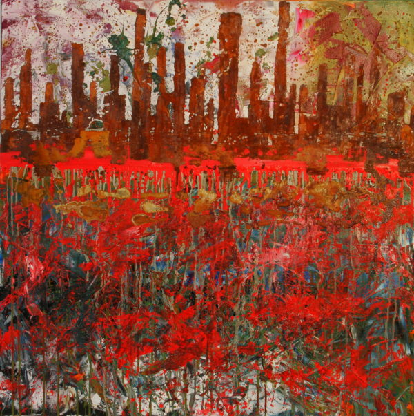 """Lakeside"" Oil on canvas"