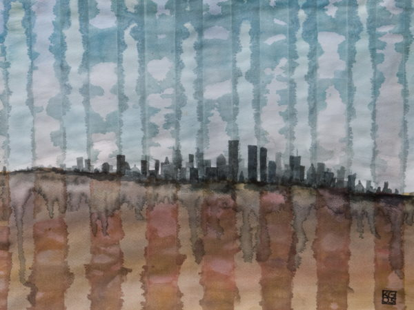"""Skyline 4"" Watercolor"