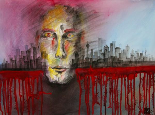 """""""BLOW IT"""" 50 cm x 65 cm Watercolor"""