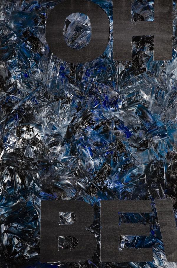 """""""OHNE BEWEGUNG"""" Schwarz 120 cm x 80 cm Oil on canvas"""